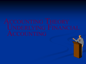 Accounting Theory Defined