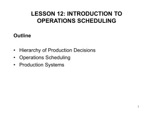 OPERATIONS MANAGEMENT II