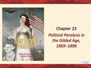 Political Paralysis in the Gilded Age PowerPoint