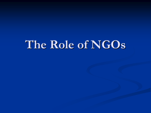The Role of NGOs - Stakeholder Forum