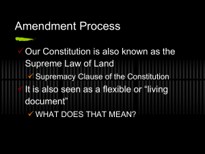 Constitutional Amendment Notes