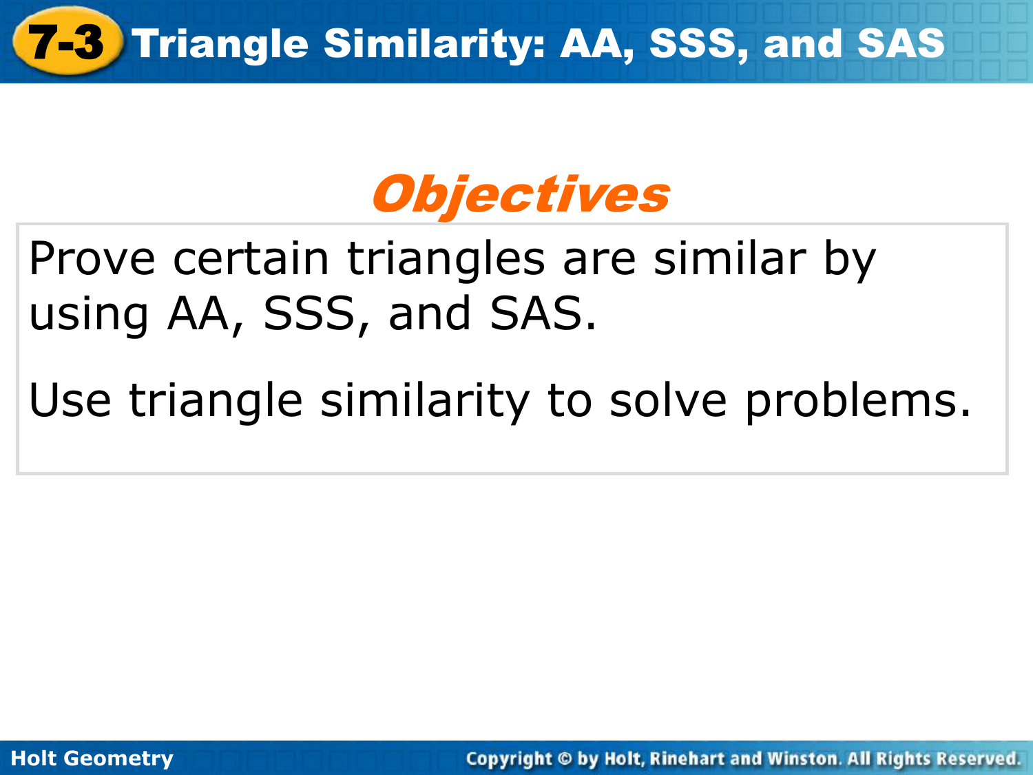problem solving triangle similarity aa sss and sas