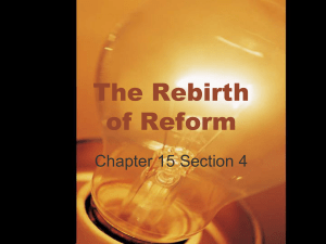 The Rebirth of Reform
