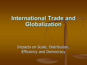 International Trade and Globalization
