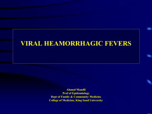 4-Viral Hemorrhagic Fevers (Jan 2010).