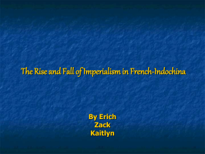 The Rise and Fall of Imperialism in French