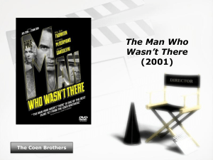 The Man Who Wasn`t There