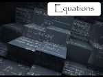 Equations Slideshow File