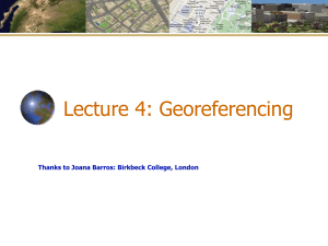 Geocoding and Georeferencing