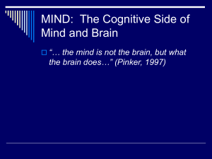 MIND: The Cognitive Side of Mind and Brain