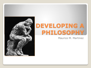 developing a philosophy
