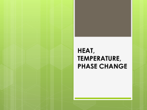 Heat Energy and Temperature Notes