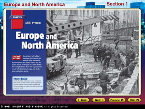 Europe and North America Section 1