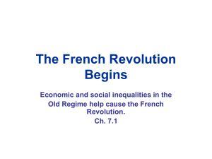 The French Revolution Begins Economic and social inequalities in