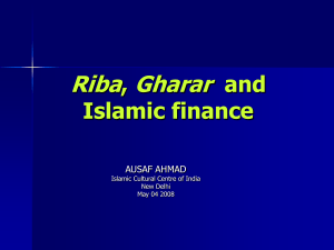 Dr. Ausaf Ahmad - Indian Centre For Islamic Finance