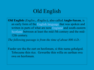 Old English - TeacherWeb
