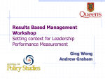 Setting the Context for Leadership Performance Measurement