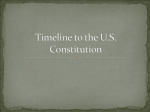 Timeline to the U.S. Constitution