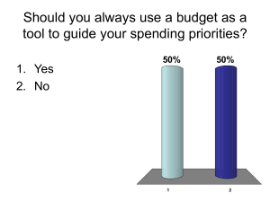 Should you always use a budget as a tool to guide your spending
