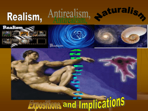 Realism, Antirealism and Naturalism AND Evolution