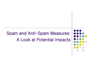 Spam and Anti-Spam Measures: A Look at Potential Impacts