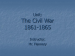 Unit: The Civil War 1861-1865