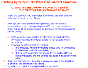 Reaching Agreement: The Process of Contract Formation
