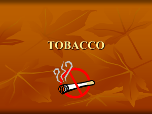 tobacco - OnCourse