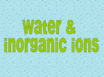 water and mineral ions ppt - Biology