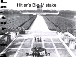 Hitler`s Big Mistake