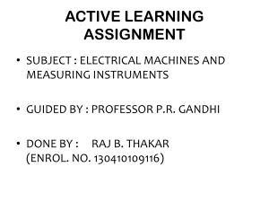 ACTIVE LEARNING ASSIGNMENT