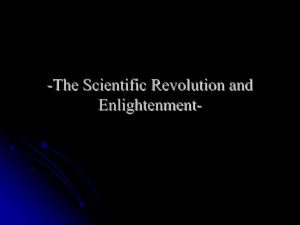The Scientific Revolution and Enlightenment