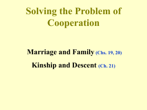 Solving the Problem of Cooperation Marriage and Family