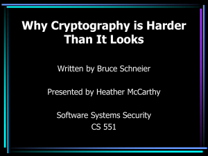 Why Cryptography is Harder Than It Looks