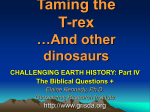 The Biblical Questions - Earth History Research Center