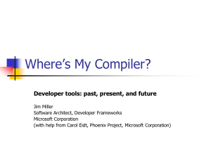 Where`s My Compiler?
