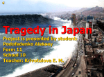 Tragedy in Japan