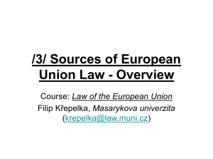 3/ Sources of European Union Law - Overview - IS MU