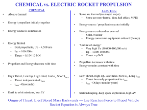 Rocket Groups: Chemical versus Electrical