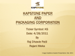 Kapstone manufactures paper packaging and forestry products