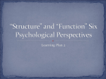 """Structure"" and ""Function"" Six Psychological Perspectives"