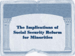 Social Security Reform and Racial Inequality