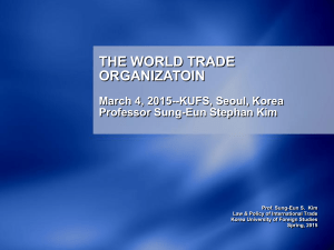 the world trade organizatoin