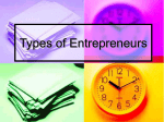 Types of Entrepreneurs - Finance in the Classroom