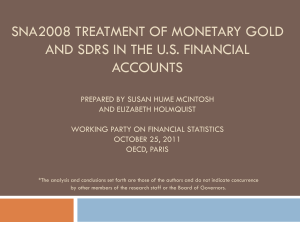 SNA1993 Treatment for Monetary Gold