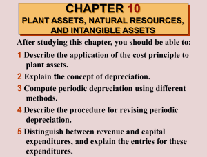 CHAPTER 10 PLANT ASSETS, NATURAL RESOURCES, AND