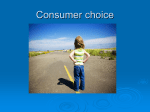 1. Consumer choice notes