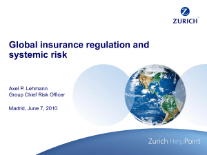 Global insurance regulation and systemic risk