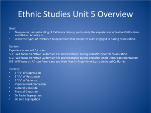 Ethnic Studies Unit 5 Overview