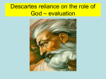 Descartes reliance on the role of God – evaluation